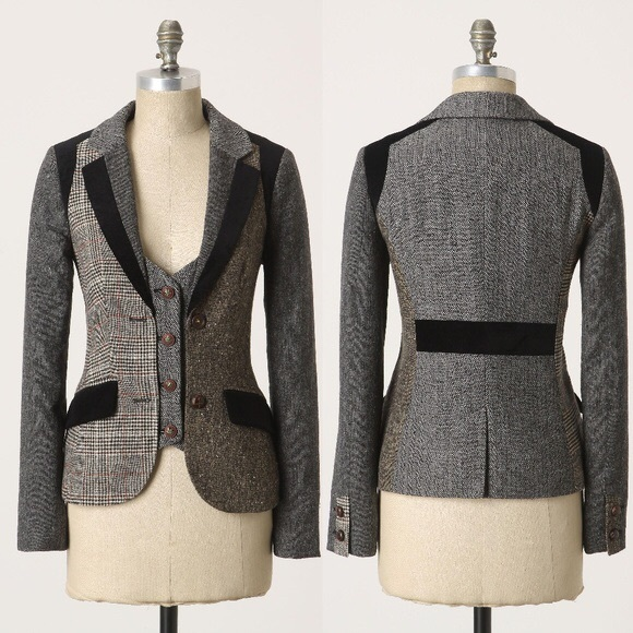 Anthropologie Alma Mater Cartonnier Blazer